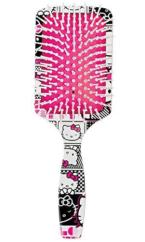 Escova de Cabelo Raquete Hello Kitty Comics, Ricca, Branco, Ricca, Branco