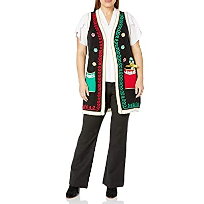 Blizzard Bay Women's Ugly Christmas Sweater Vest at Women's Clothing store