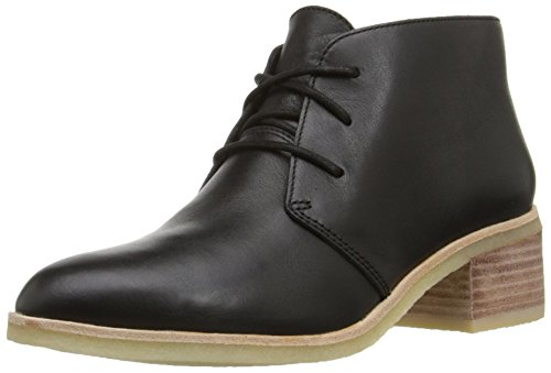 Clarks Women's Phenia Carnaby Boot, Black Leather, 7 M US