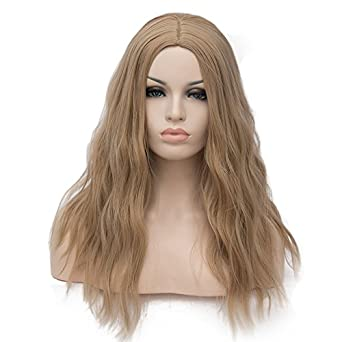 OneUstar Womens 18 inch Long Wavy Curly Wig Cosplay Party Wig for Women