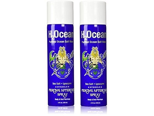 H2Ocean Piercing Aftercare Spray, 4 Ounce Set of 2 by H2Ocean