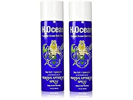 Amazoncom H2ocean Piercing Aftercare Spray 4 Ounce Set Of 2 Beauty