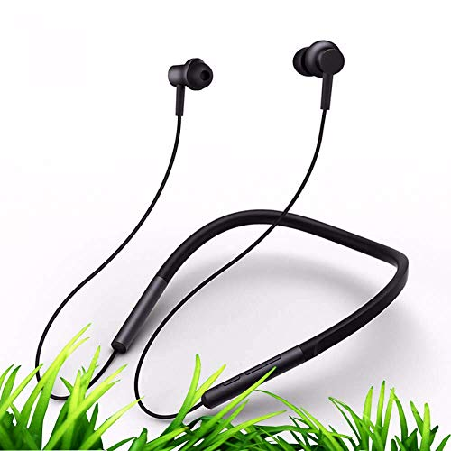 Xiaomi Mi Bluetooth Neckband Earphones Global Collar Headset Wireless In-Ear Magnetic Mic Sport Running Dual Dynamic Skin Care Light for iPhone Android English Long Battery 8 hours apt-X AAC Headphone from Xiaomi