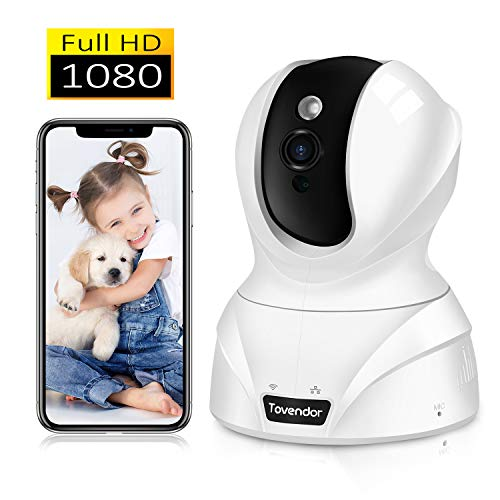 Tovendor 1080P Home Pet Camera 2MP Indoor Security Camera with IR Night Vision, Motion Tracking Alert, Pan Tilt Zoom Camera for Baby Elder Nanny
