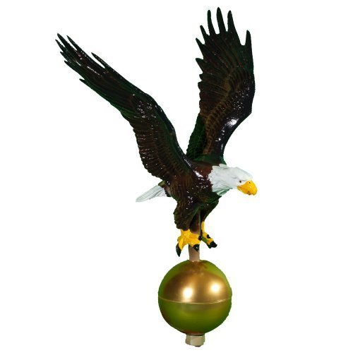 Montague Metal Products Color Flagpole Eagle, 12-Inch by Montague Metal Products