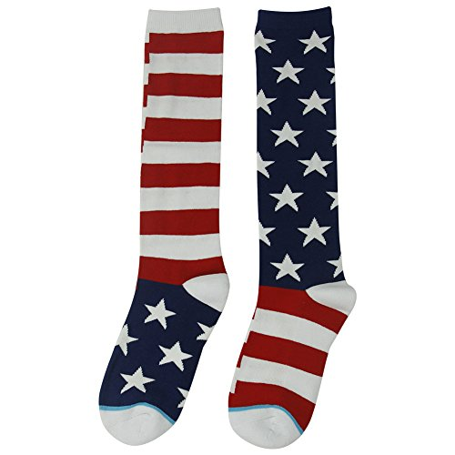 Halloween Usa Flag (American Flag Socks, Gmall Women's Halloween Holiday Stars and Stripes Novelty Fashion Pattern Casual Dress Socks, 1 Pair,)