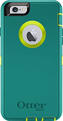 OtterBox DEFENDER iPhone 6/6s Case - Retail Packaging - TROPIC (CITRON GREEN/LIGHT TEAL) by Otter Products, LLC