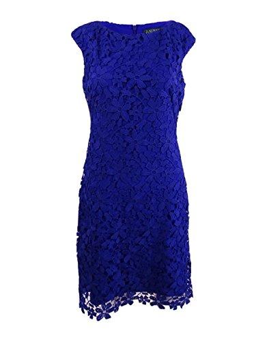 Lauren Ralph Lauren Women's Lace Bateau-Neck Dress (14, Dame Purple) (Ralph Lauren Spring Lace)