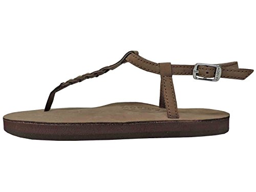 Rainbow Dark Brown T Street size UK6 flip flops Ql3sjVeaU