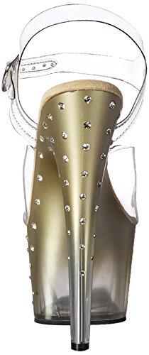 Donna Pleaser clr Clr Gold 708t Sandali Stardust xarwtq0Fa