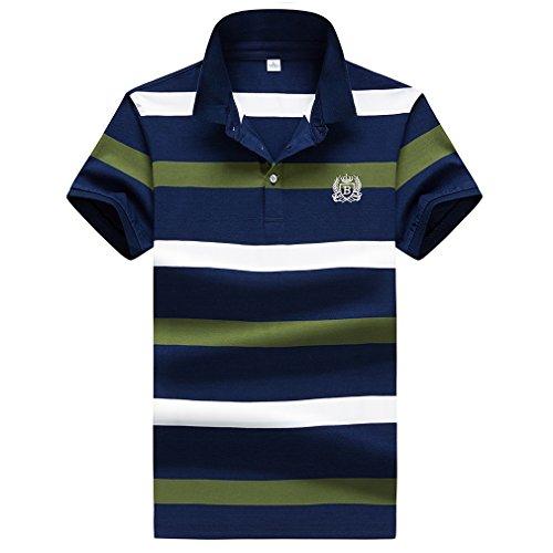 ポロシャツ メンズ 半袖 ボーダー ゴルフ カジュアル ゴルフウェア メンズ ビジネス ポロ 男性 夏 多色 吸汗速乾