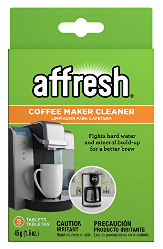 Affresh W10509526M3 3 Pack Garbage Disposal Cleaner & Coffee Maker Cleaner, 3 Tablets | Compatible with multi-cup coffeemakers and single serve brewers