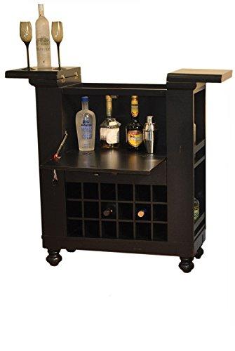 ECI Furniture Nantucket Spirit Cabinet, Black