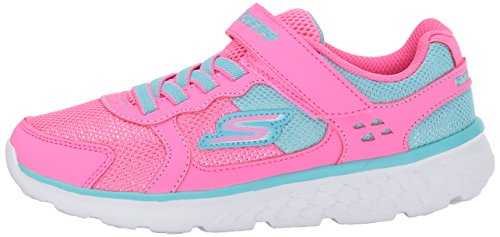 Pictures of Skechers Kids Girls' GO Run 400-Sparkle 81358L Neon Pink/Aqua 5