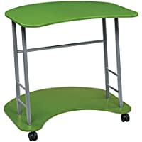 Office Star Kool Kolor Computer Desk with Powder Coated Steel Frame, Green Finish