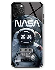 $26 » NASA Astronaut Call Led Flash Luminescent Glass case for iPhone 7/8/SE2, 7/8 Plus, Xr, 11 Pro Max, 12 Mini Pro Max, Space Suit Theme Case Anti-Scratch Tempered Glass Cover