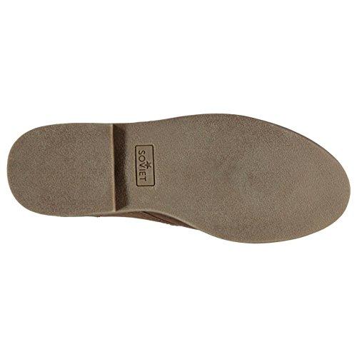 Soviet Herren Desert Schuhe Schnürschuhe Halbschuhe Genähtes Detail Metall Logo Braun 11 (45)