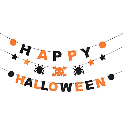 Sunrisee Happy Halloween Banners Kit Halloween Party Decorations (Banner De Halloween)