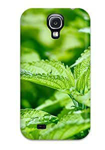 Flexible Tpu Back Case Cover For Galaxy S4 - Fresh Mint Leaves