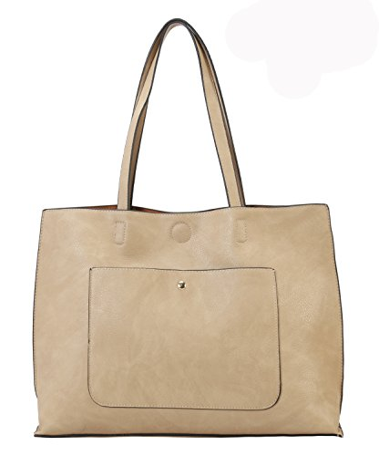 PU Oversize Design Leather Tote Simple Taupe Diophy Bag Bxdqw6q