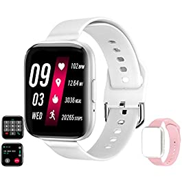"Smart Watch Receive/Make Call,Fitness Tracker with 1.54"" Full Touch Life Water-Resistant SpO2 Heart Rate Sleep Monitor…"