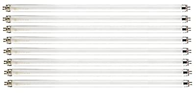 "Pack of 8 F39T5/865/HO 39 watt 34"" Straight F39 T5 Mini Bi-Pin (G5) Base, 6,500K Daylight White Octron High Output Fluorescent Tube Light Bulb"