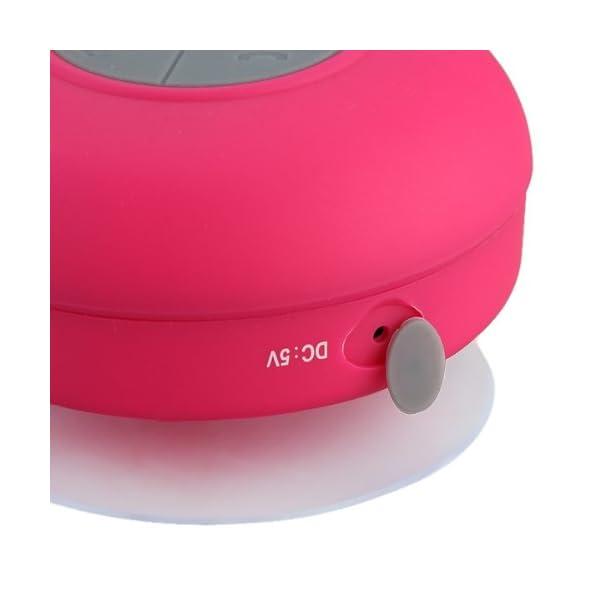 Memteq - Enceinte haut-parleur étanche Bluetooth, à ventouse, pour téléphone portable fuchsia 7