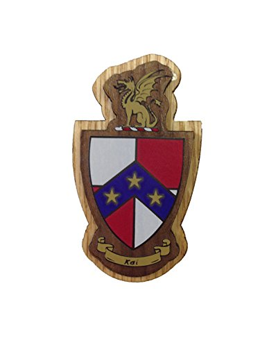 Beta Theta Pi Fraternity Wood Crest Made of Wood for Paddle Mascot Board (3.5