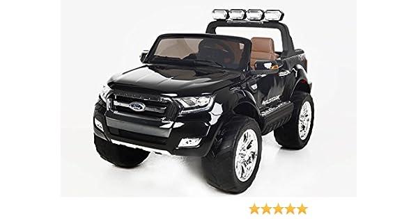 Coche eléctrico para niños Ford Ranger Wildtrak 4X4 LCD Luxury - 2.4Ghz, Pantalla LCD TACTIL, NEGRO, 2x12V, 4 X MOTOR, mando a distancia, dos asientos en ...