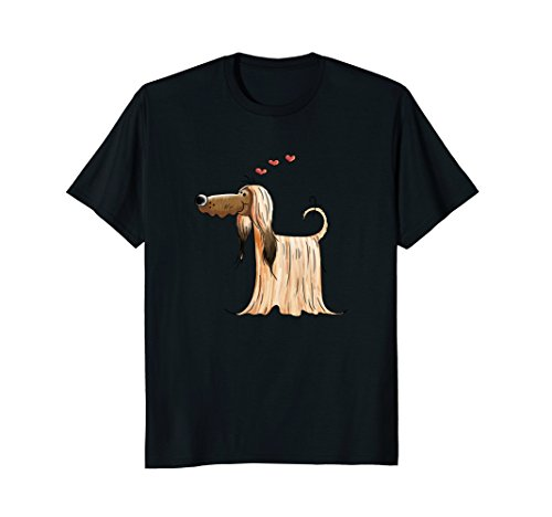 Lovely Afghan Hound Dog T Shirt For Women Men Girls Gift