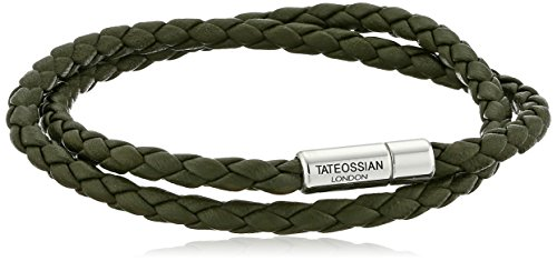 Tateossian Scoubidou Pop Silver Green Medium Double Wrap Bracelet