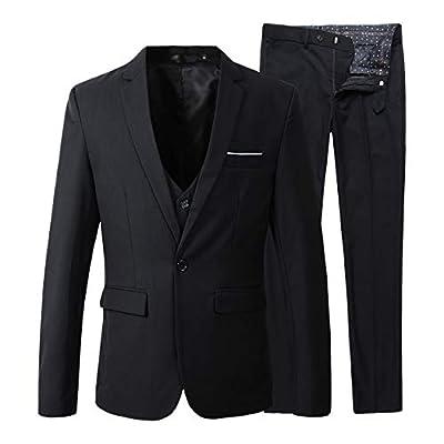 Beninos Men's Slim Fit Suit Blazer Jacket Tux Vest Pants 3 Pieces Suit Set