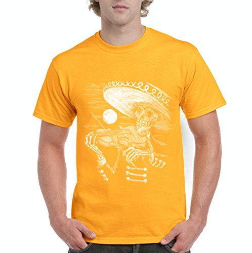 (Blue Tees Day Of Dead Mariachi Skeleton Fashion People Best Friend Couples Gifts Men's T-Shirt Tee XXXXX-Large)