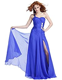 Ruched Waist One Shoulder Prom Dress 1378