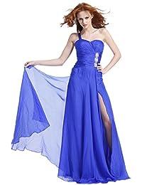 Ruched Waist One Shoulder Prom Dress 1378