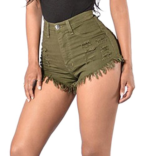 Cheap Dovewill Summer Women Casual High Waisted Short Mini Jeans Ripped Jeans Shorts Hot Pants free shipping