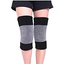 Mcolics Cotton Non-slip Soft Absorbent Knee Pad Support Brace Protector Leg Sleeve Kneelet Thickening Extended Warm For Men & Women Outdoor Sports Running Dancing Gym Yoga Fitness, 1 Pair
