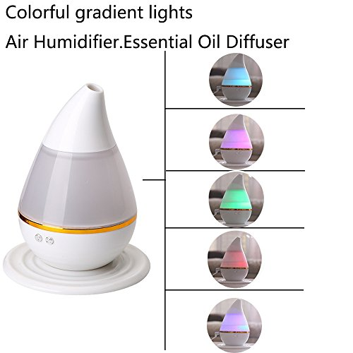 Ultrasound Atomization Humidifier Colorful Gradient Light (White) - 2