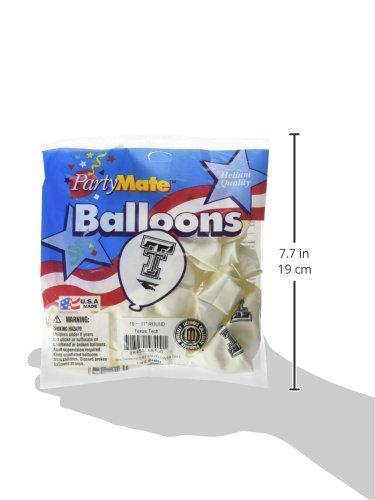 Pioneer Balloon Company 10 Count Texas Tech Latex Balloon Multicolor 11