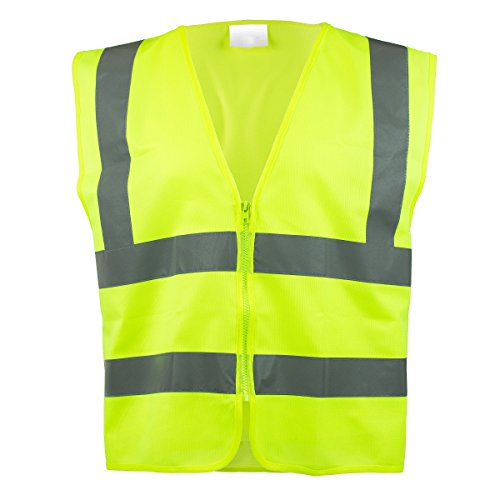 Lightweight Economy Safety Vest - RK SAFETY Z7412 High Visibility Safety Vest, ANSI/ ISEA Standard | Color Neon Yellow | Size M