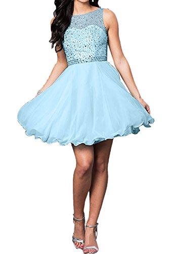 Ivydressing Steine Himmelblau Partykleid Zaertlich Ballkleider Kurz Brautjungfernkleid Abendkleider Damen nqHUz7qp