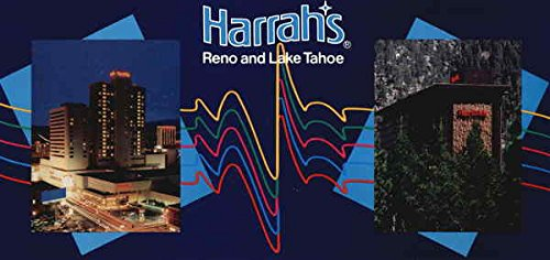 Harrah's Reno And Lake Tahoe Casinos & Gambling Original Vintage Postcard