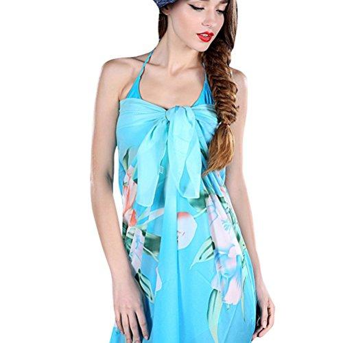 Vobaga Pareo Para Mujer Estampado Floral Bañador Túnica Playa Verano Beach Bikini Swimwear Cover-up Y89
