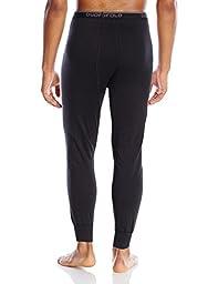 Duofold Men\'s Mid Weight Wicking Thermal Pant, Black, Medium
