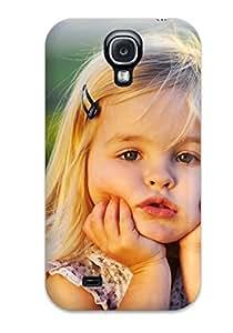 Special CaseyKBrown Skin Case Cover For Galaxy S4, Popular Cute Little Baby Girl Phone Case wangjiang maoyi