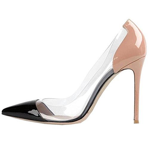 Lovirs Stiletto Dress Slip Heel Toe Shoes Sexy Wedding Pointed Pumps Womens Nude High Party On rw8Tqrf