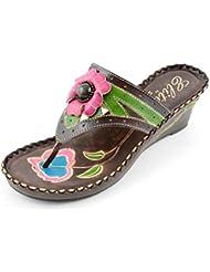 Corkys Footwear Womens Elite Jenny Thong Flip Flops Leather Sandals