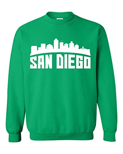 San Diego Most Visited US Cities Unisex Crewneck Sweatshirt (2XLIG) Irish Green -