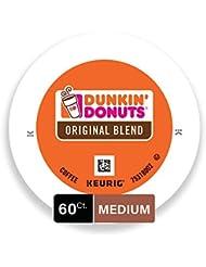 Dunkin' Donuts Original Blend Medium Roast Coffee, 60 K Cups for Keurig Makers