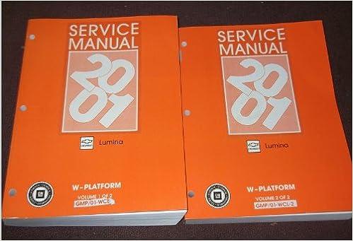 2001 chevrolet lumina service repair manual software